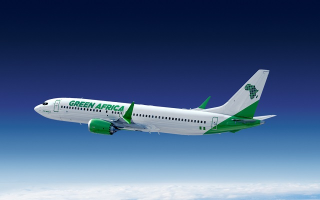 Green Africa 737 Max 8