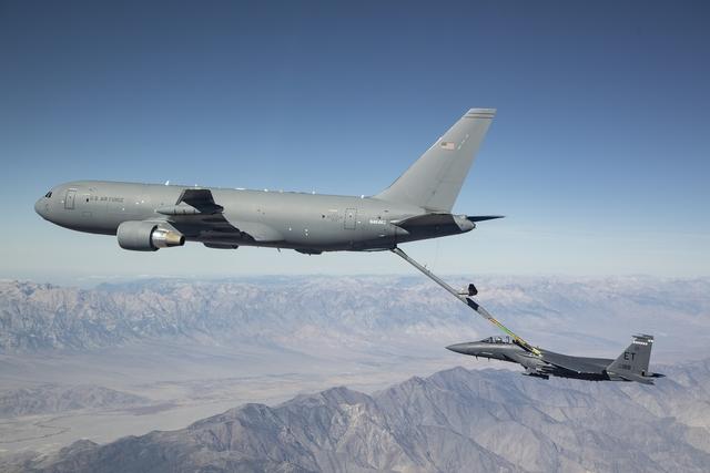 KC-46A refueling F-15E