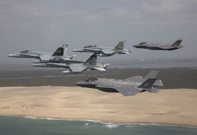 RAAF F-35As and F-18s