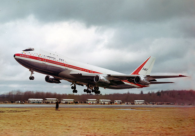 747-first-flight-takeoff-c-Boeing