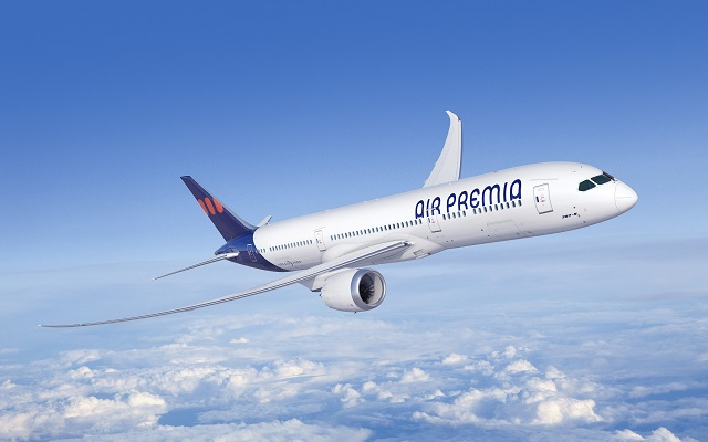 Air Premia 787-9 render