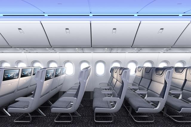 Boeing 777X cabin.-2