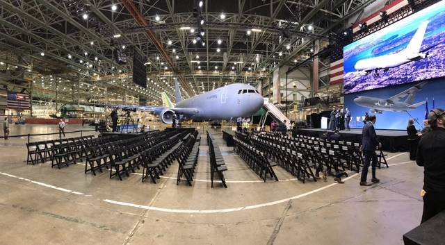 Boeing KC-46A Pegasus delivery ceremony