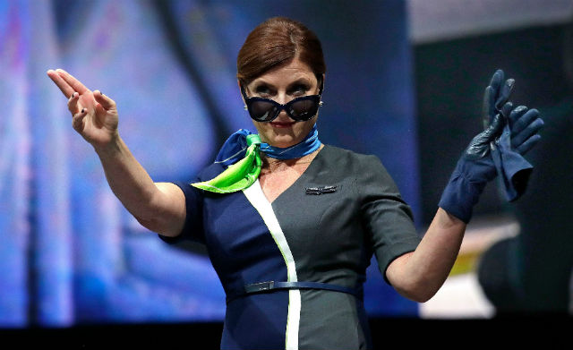 Flight attendant - Elaine Thompson/AP/REX/Shutters