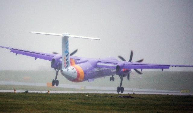 Flybe Q400 - Andrew McCaren/LNP/REX/Shutterstock