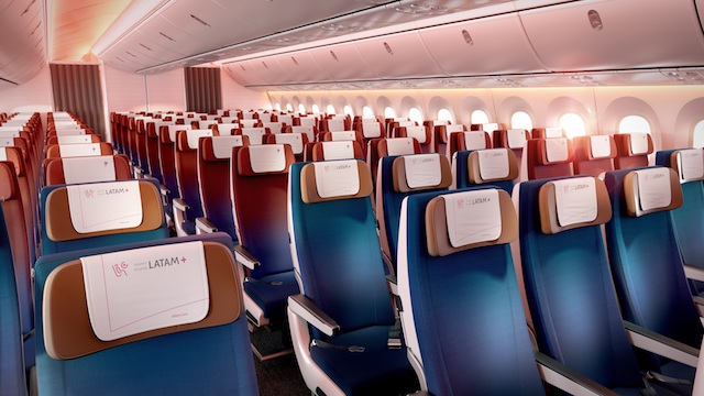 LATAM new cabin interior economy class