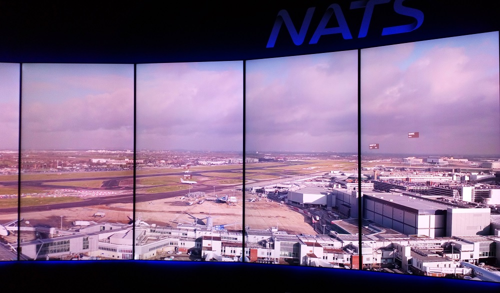 NATS digital Heathrow tower view