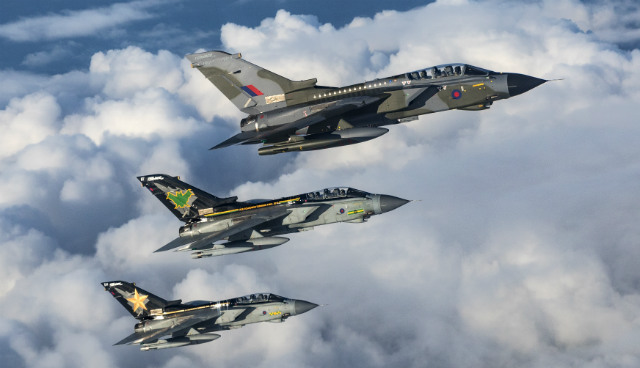 Tornado GR4 trio - Crown Copyright