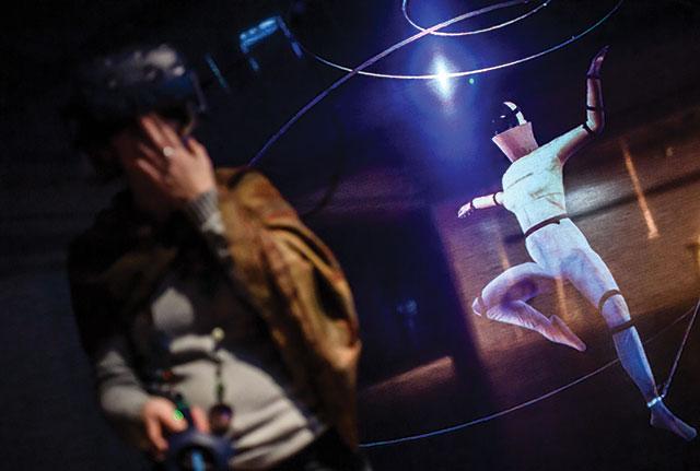 VR dance experience c Clemens Bilan EPA-EFE REX Sh