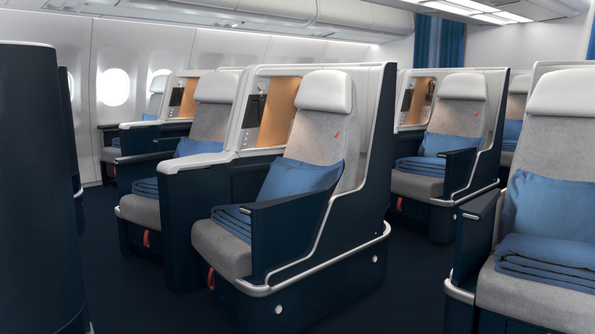 Air France A330 business class seat