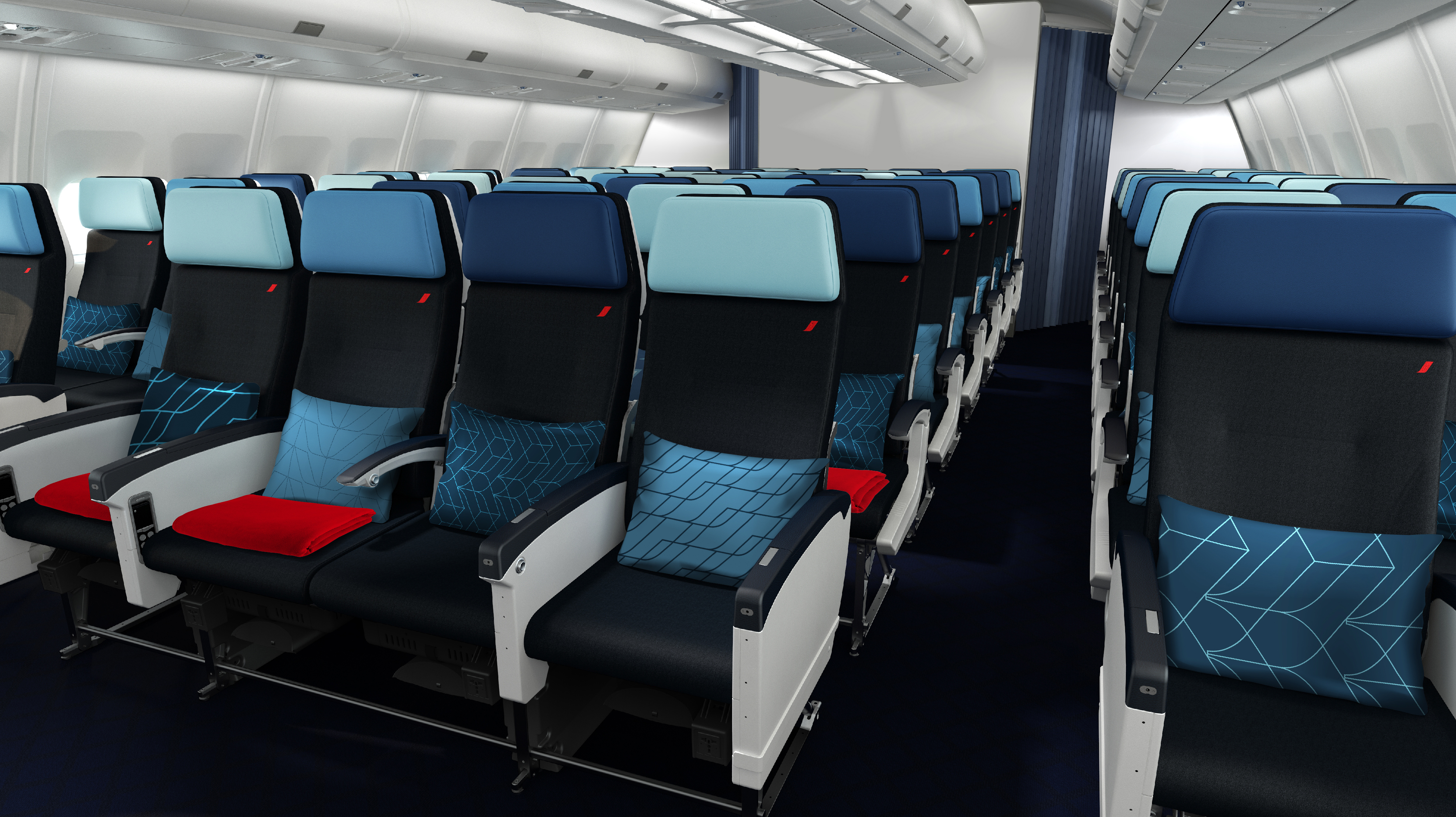 Air France A330 economy seat