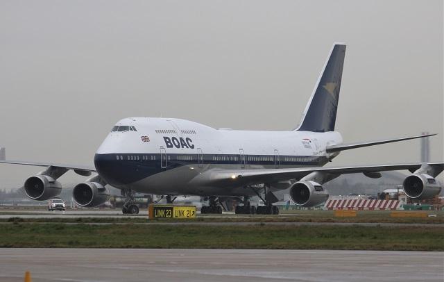 BOAC 747 taxi max kj