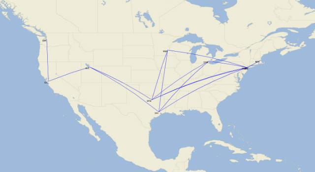Delta A220 routes