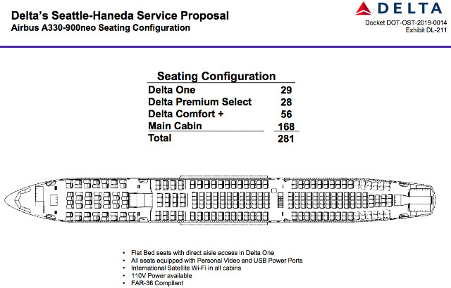 Delta A330-900neo seating