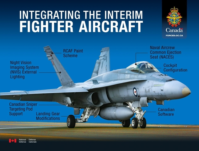 F/A-18 Hornet with modifications for CF-18 conver