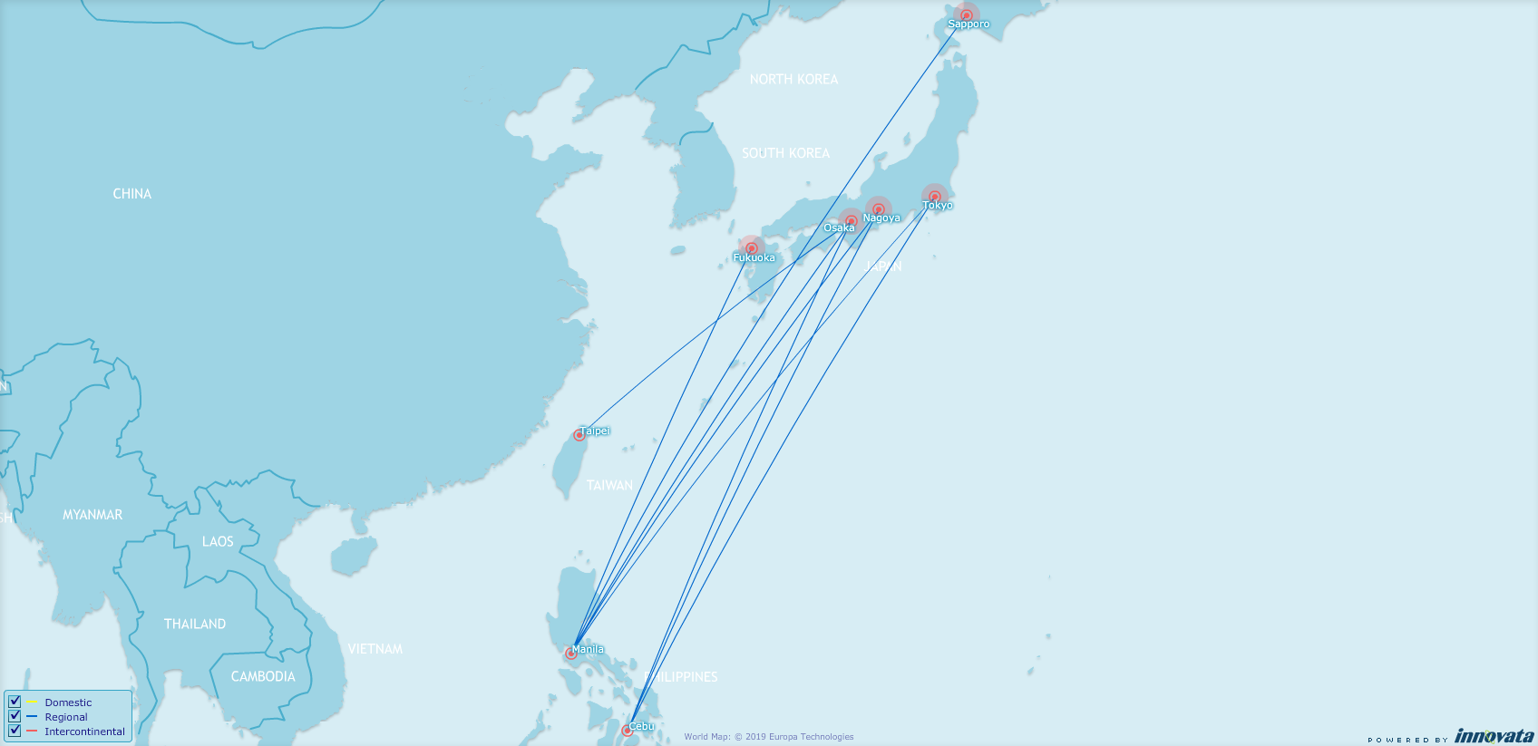 PAL japan network