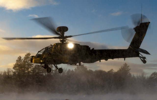 UK Apache snow – Crown Copyright