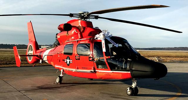 US Coast Guard MQ-65E helicopter