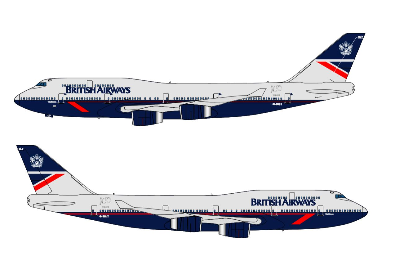 BA 747 retrojet Landor design