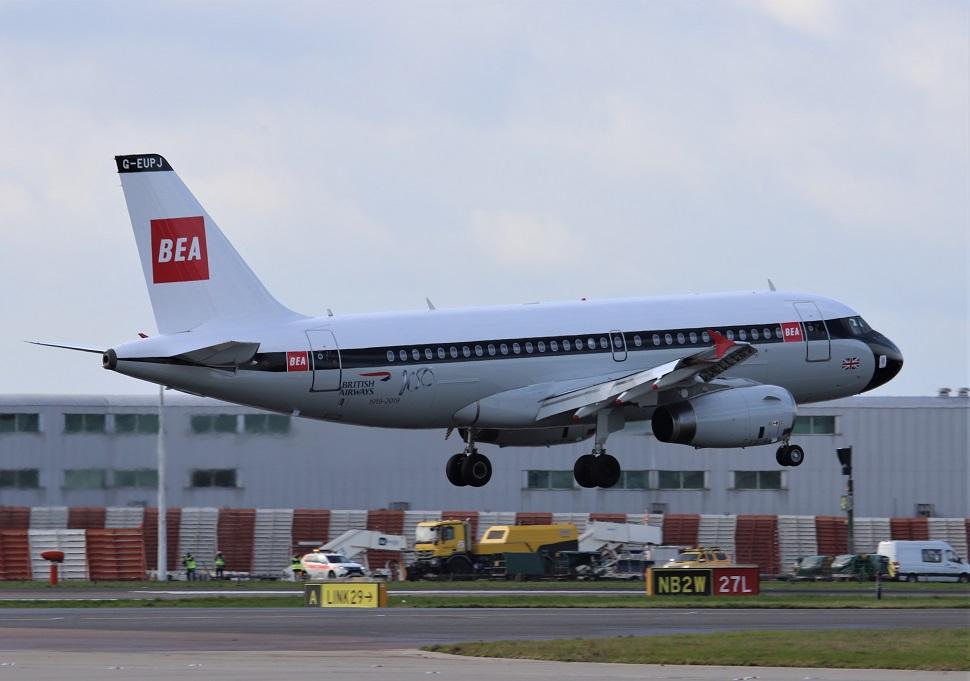 BEA A319 retrojet