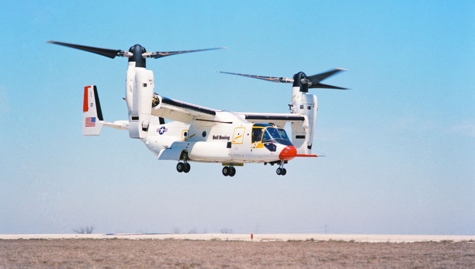 Bell Boeing V-22 Osprey first flight