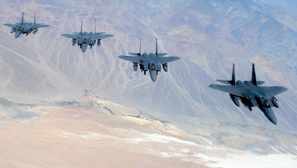 Boeing F-15 in formation