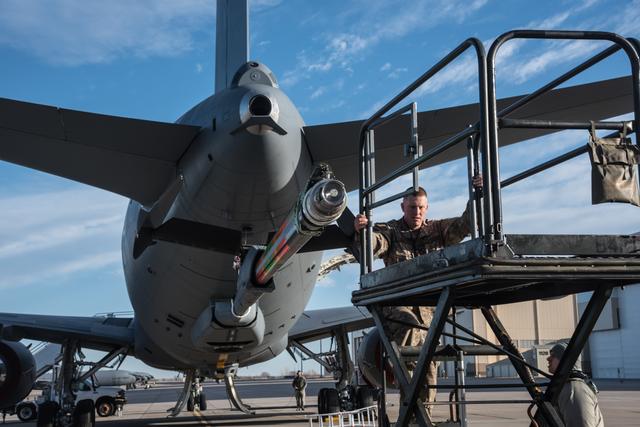 Boeing KC-46A Pegasus acceptance inspection at McC