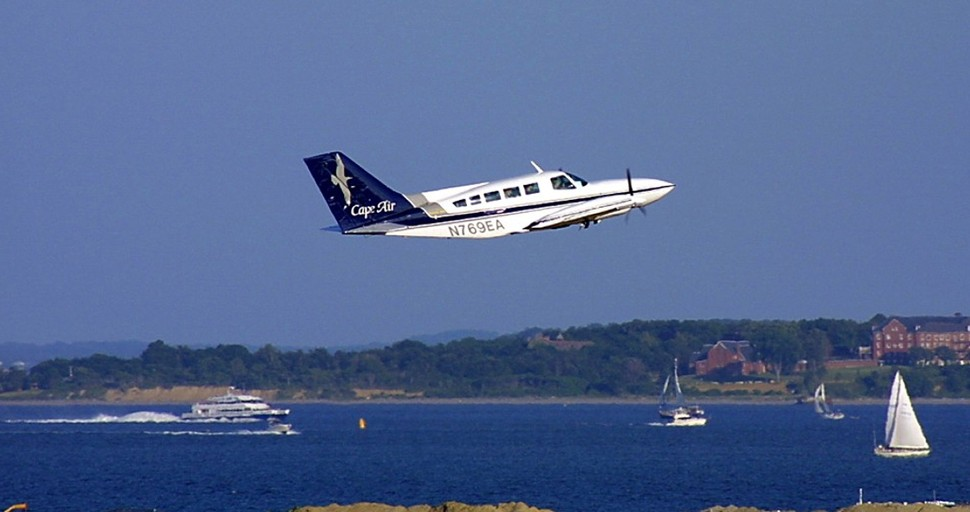 Cape Air in flight c Cape Air