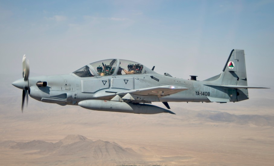 Embraer A-29 over Afghanistan