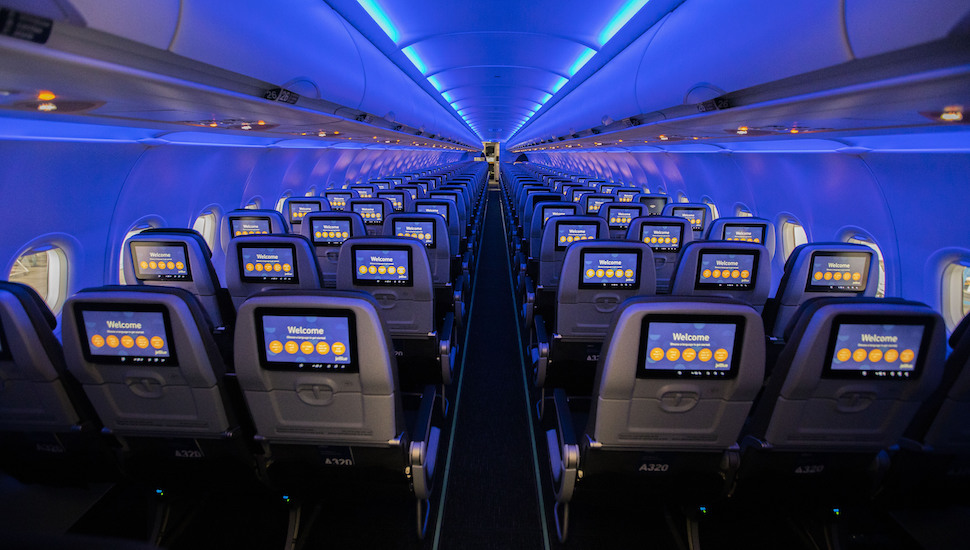 JetBlue A320 phase 2 interior