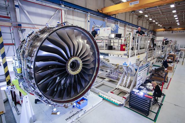 Rolls-Royce Trent XWB assembly