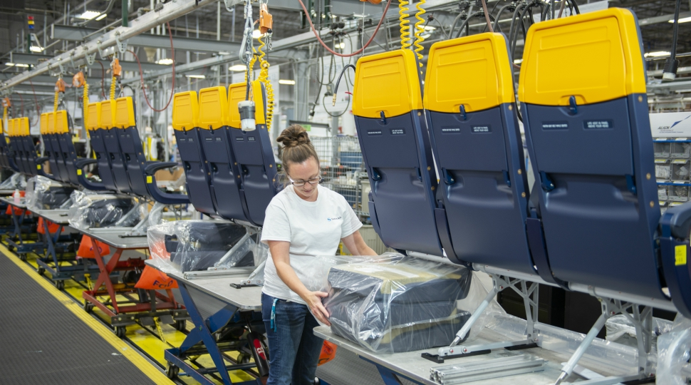 Safran economy seat production