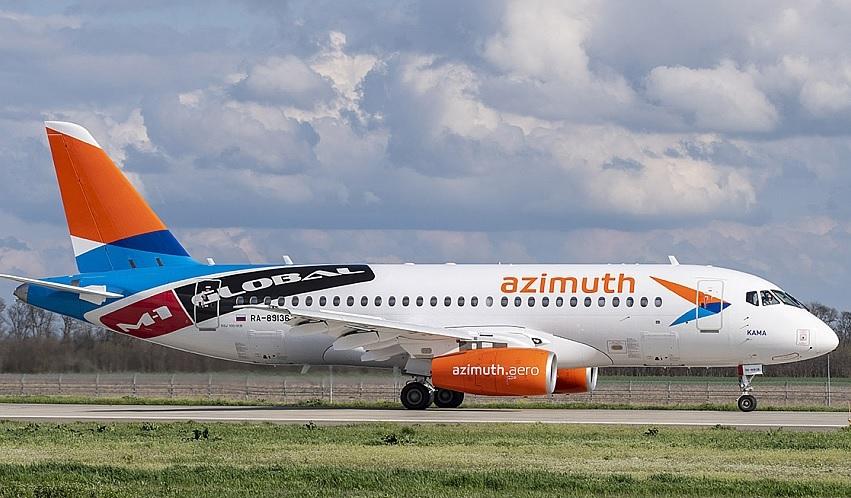 Azimuth Sukhoi Superjet (M-1 Global)