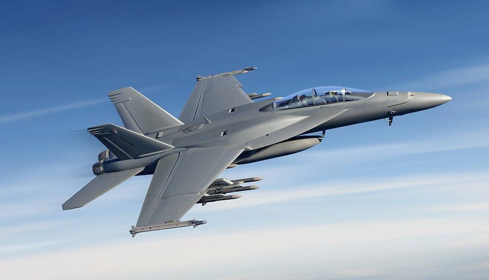 Boeing FA-18EF Block III Super Hornet rendering vi