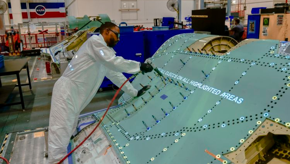 F-35 centre fuselage at Northrop Grumman facility