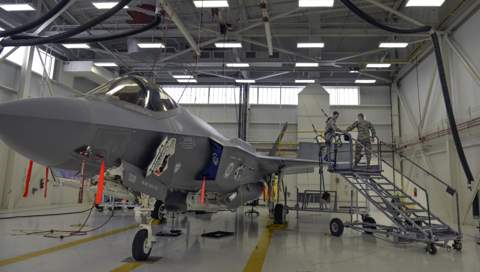 F-35A Lightning II for maintenance at Eglin Air Fo