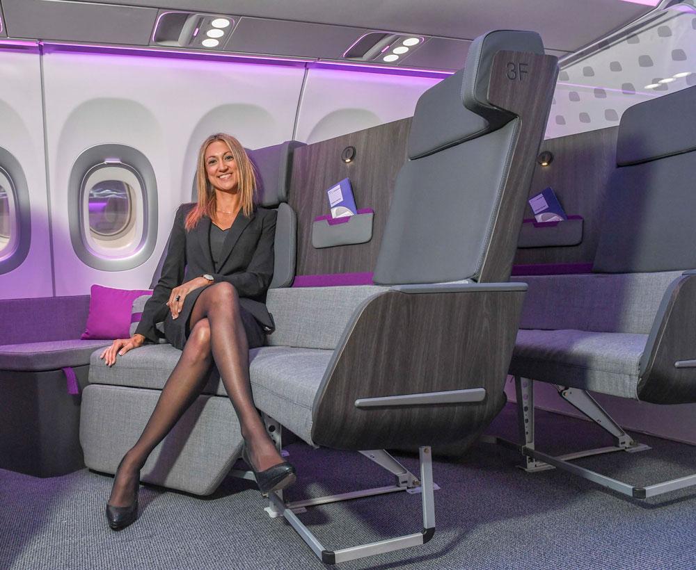 New Airbus lightweight lie-flat A320 business seat