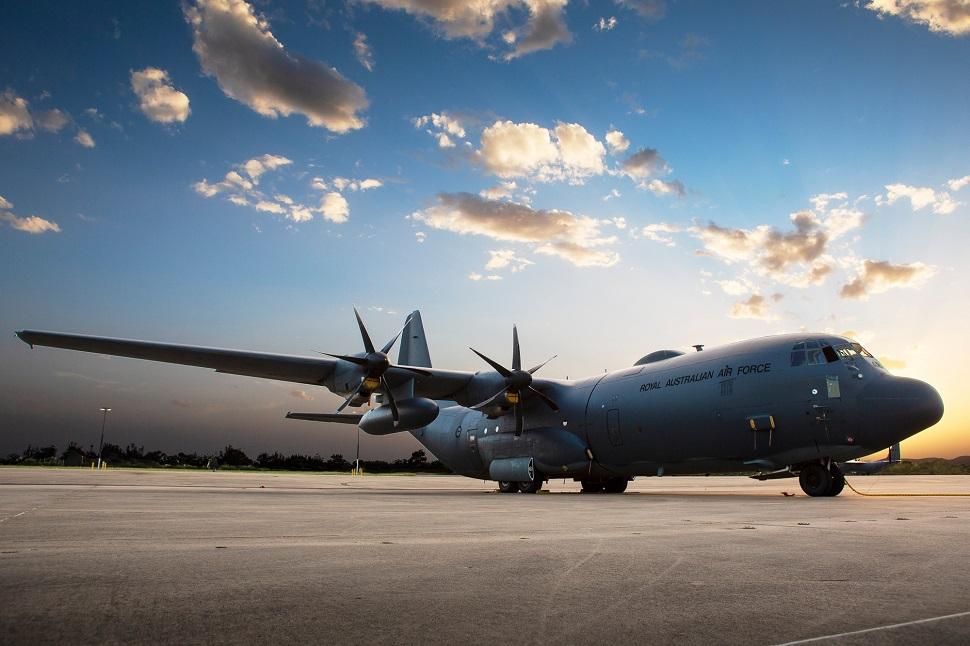 RAAF C-130J with Honeywell Jetwave