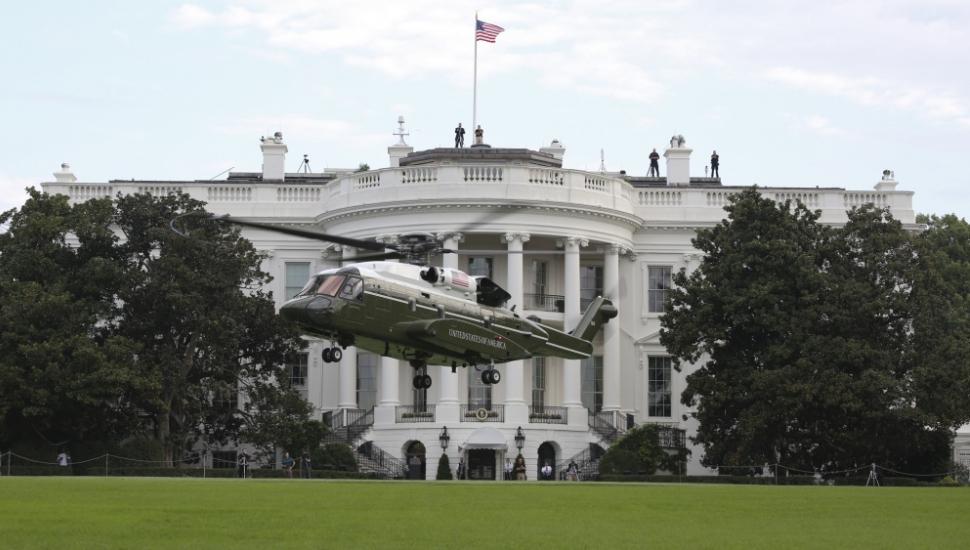 VH-92A Landing on White House South Lawn