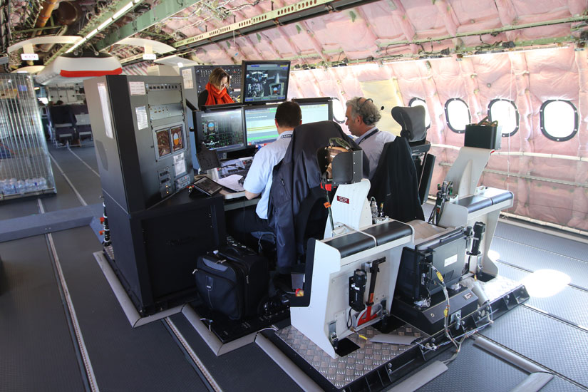 A220neo test flight - work station