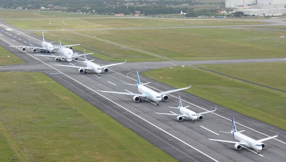airbus flypast