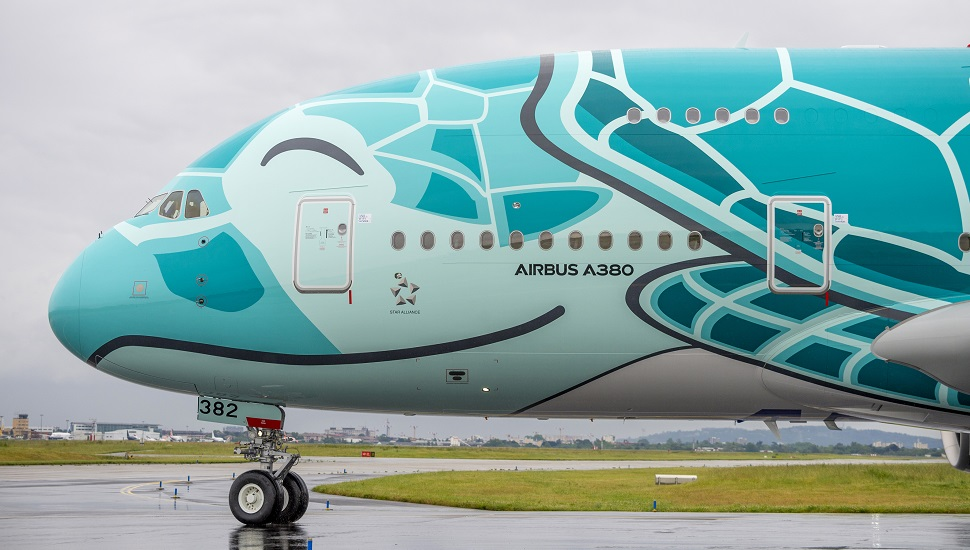 ANA Flying Honu A380 nose pic