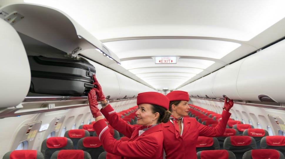 Austrian A320 cabin bin door upgrade