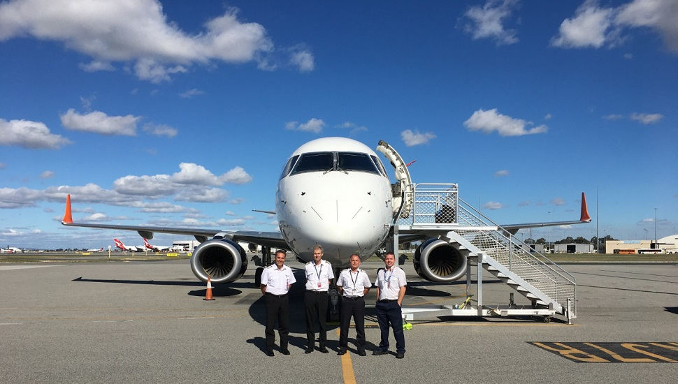Cobham new E190 arrival at PER