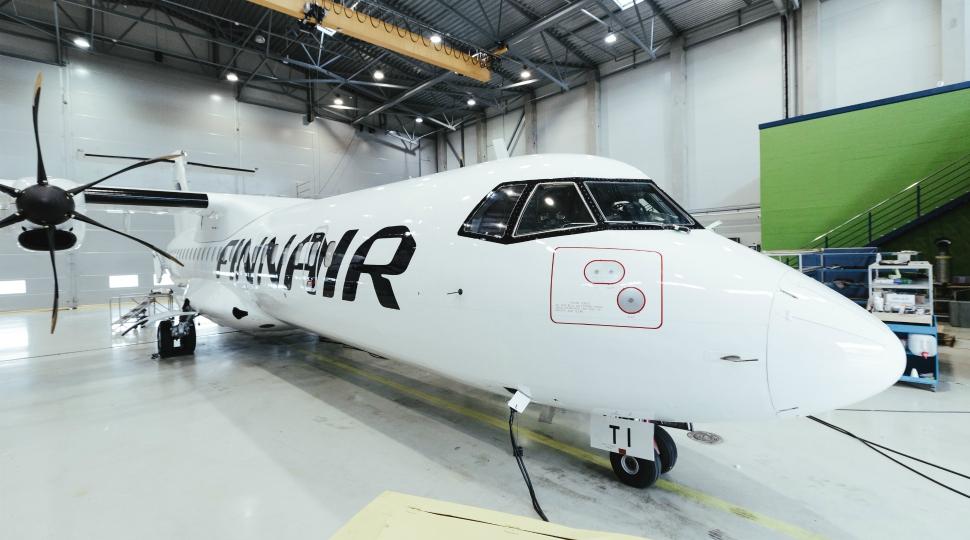 Finnair Norra ATR 72 Magnetic MRO hangar