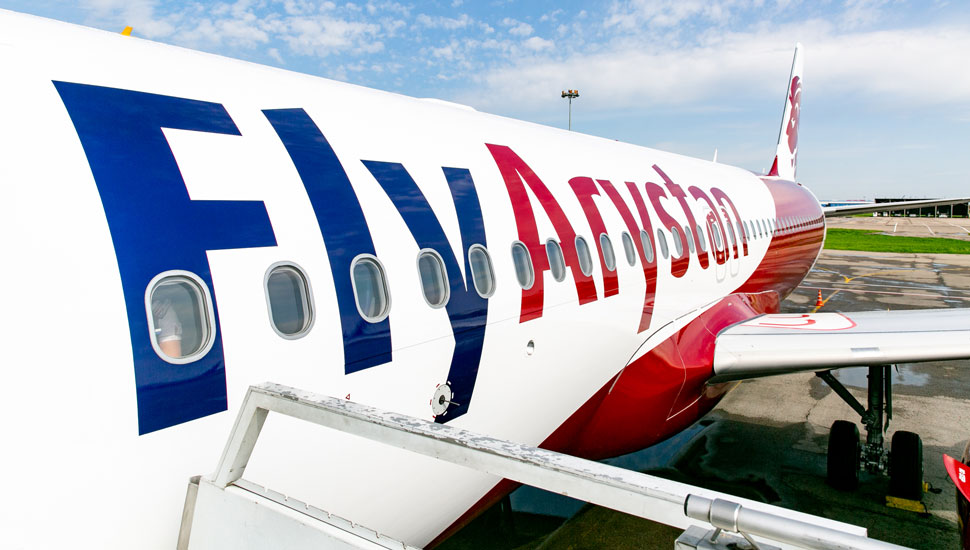 FlyArystan Airbus A320 side livery