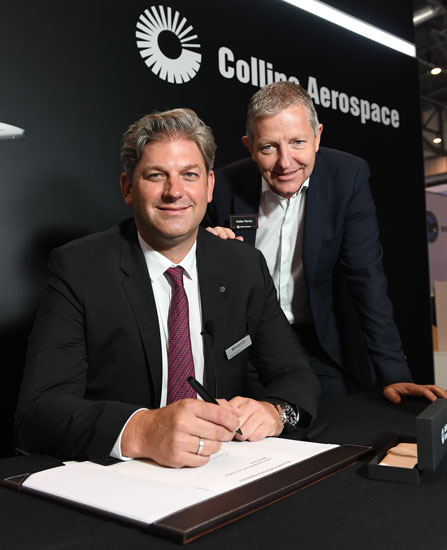 Jet Aviation has signed an agreement with Collins