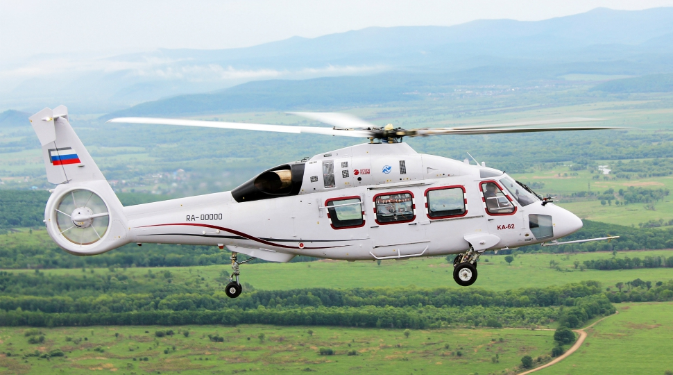 Russian Helicopters Ka-62 test flight