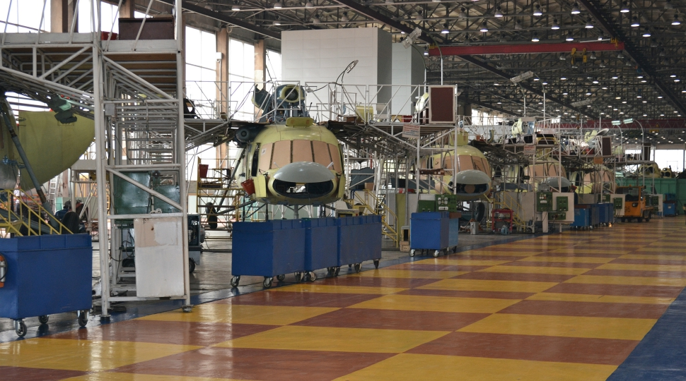 Russian Helicopters Ulan Ude plant Mi-8/17 product