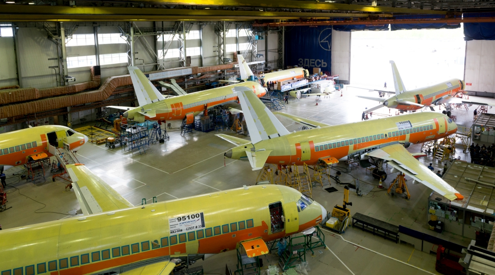 Superjet assembly line